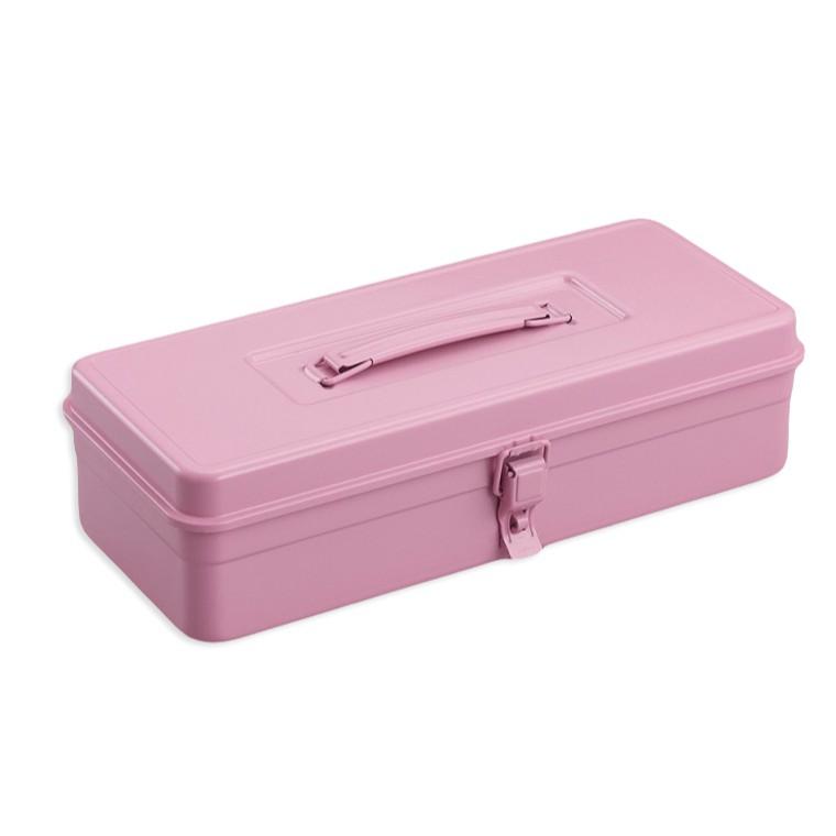 TOYO T-350P 提把方型工具箱 粉紅 日本製 鐵箱  零件箱 【露戰隊】