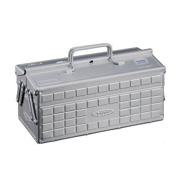TOYO ST-350 二段式工具箱 銀 日本製 鐵箱  零件箱 【露戰隊】