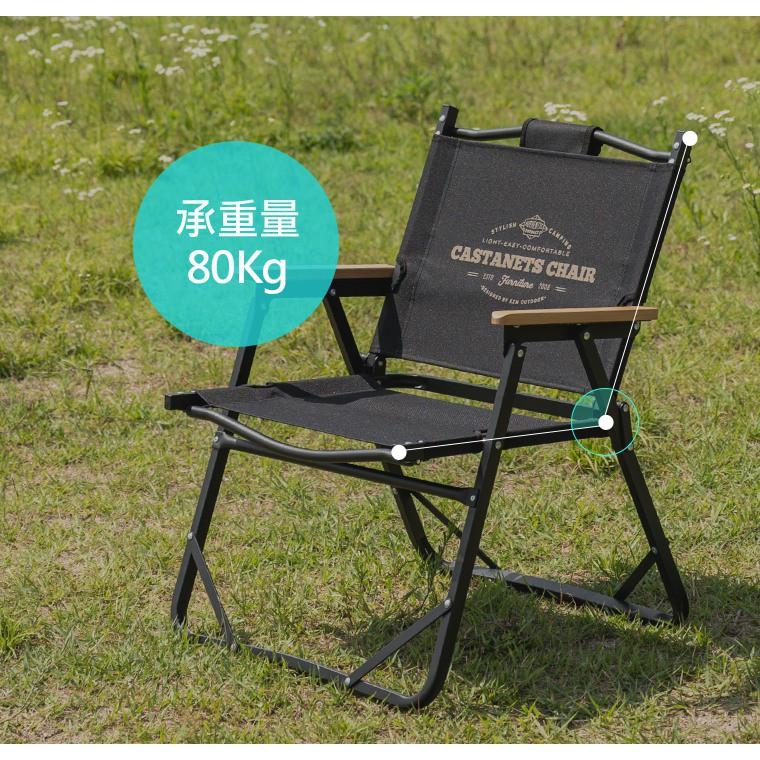 KAZMI KZM 素面木手把低座折疊椅 露營椅 躺椅 休閒椅 椅 戶外椅 庭院椅 花園椅【露戰隊】 卡其色