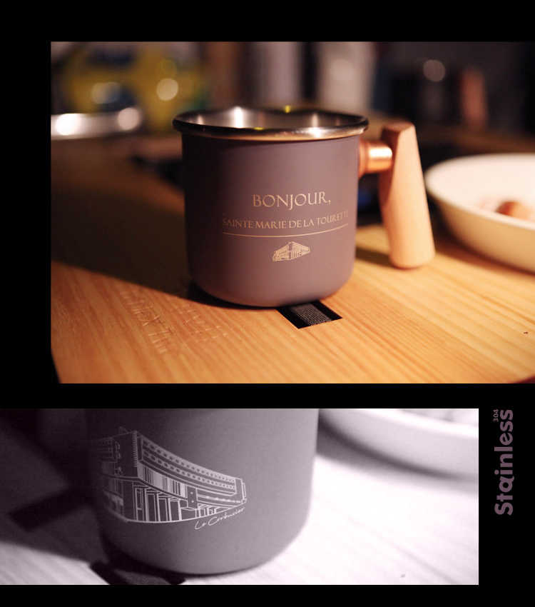 Truvii 400ml 木柄白鐵杯/造型款 【露戰隊】