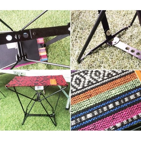 繽紛折疊椅 (贈同色收納袋) 逛街排隊椅 野餐椅 小板凳 演唱會【露戰隊】 粉彩條紋