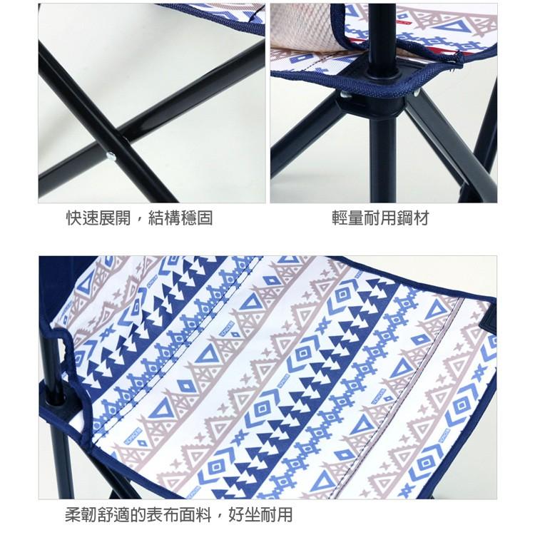 馬德里便攜迷你椅 紅/藍 折凳 折疊椅 排隊椅  釣魚椅,bbq椅 燒烤椅 燒烤凳 馬扎 馬扎凳 釣椅 板凳 【露戰隊】 藍色