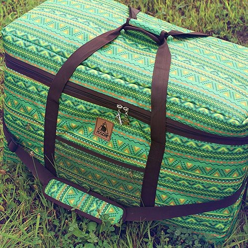 KAZMI 經典民族風裝備收納袋100L(綠色) 裝備袋 整理箱 箱子 行李袋 棉被袋 萬用袋 多功能包【露戰隊】