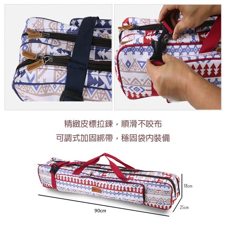 馬德里雙層營柱袋 紅/藍 營柱 保護袋 營柱包 裝備袋 收納 營柱收納袋 天幕桿包 營釘包 工具袋【露戰隊】 藍色