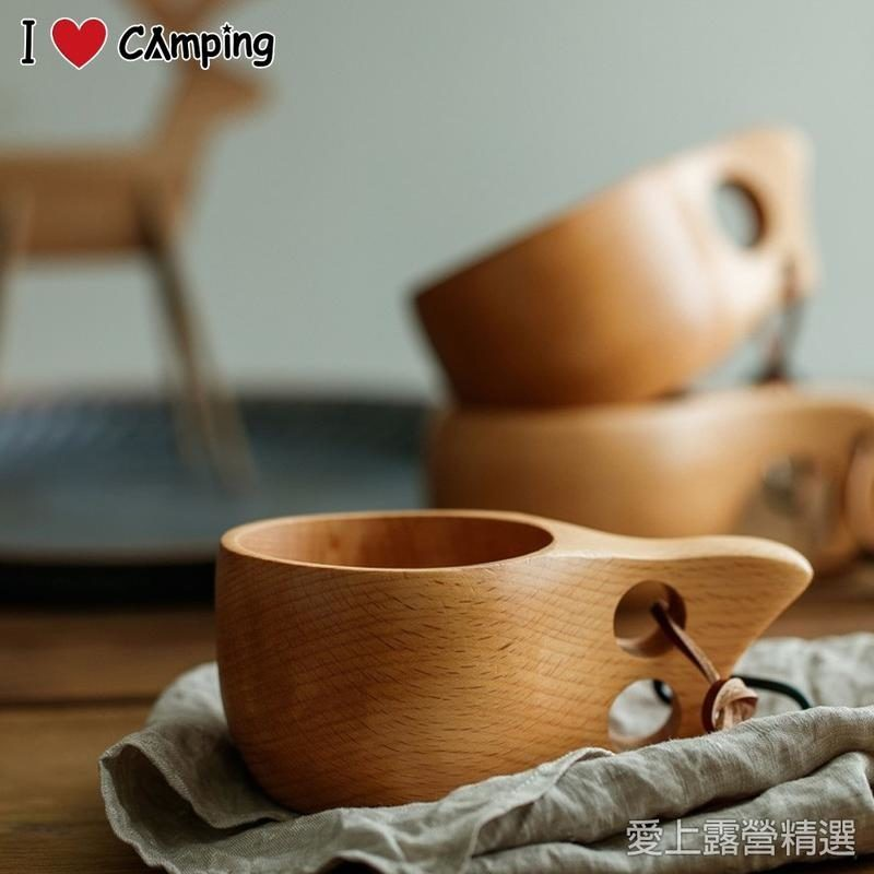 ForestOutdoor 芬蘭kuksa原木杯 木杯 實木杯 [露戰隊] 單孔杯