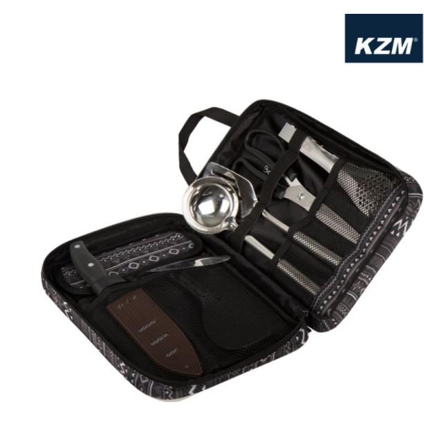KAZMI KZM 彩繪民族風廚房用具8件組 刀子 湯杓 鍋鏟 飯匙 剪刀 夾子 【露戰隊】