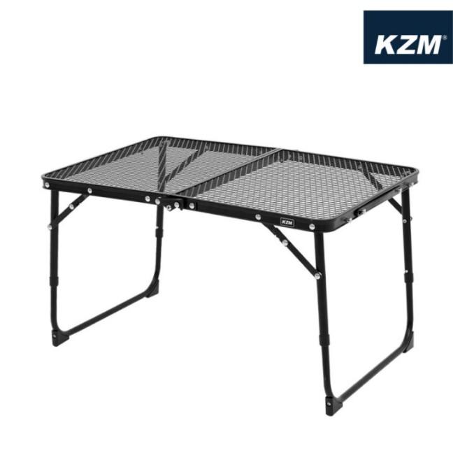 KAZMI KZM 迷你鋼網折疊桌(鋼網系列) 露營小桌 野餐桌 摺疊桌 帳內桌 野營 戶外桌【露戰隊】