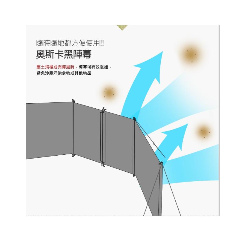 KAZMI KZM 奧斯卡黑陣幕 圍布 【露戰隊】