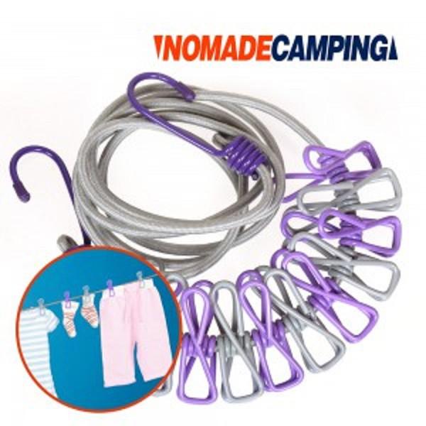 NOMADE 彈性晾衣繩組 曬衣 掛衣 旅行 洗衣 N7037【露戰隊】