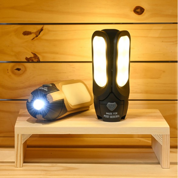 POST GENERAL 多功能太陽能充電LED燈- 玄黑【露戰隊】