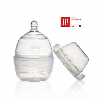 【最後限量100】台灣FARLIN抗摔防脹氣仿母乳設計新生兒矽膠奶瓶