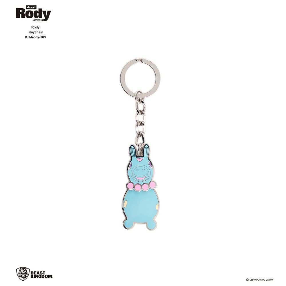 Rody-003 跳跳馬 鑰匙圈 03 粉藍款