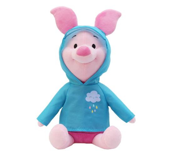 迪士尼 30cm坐姿雨衣小豬