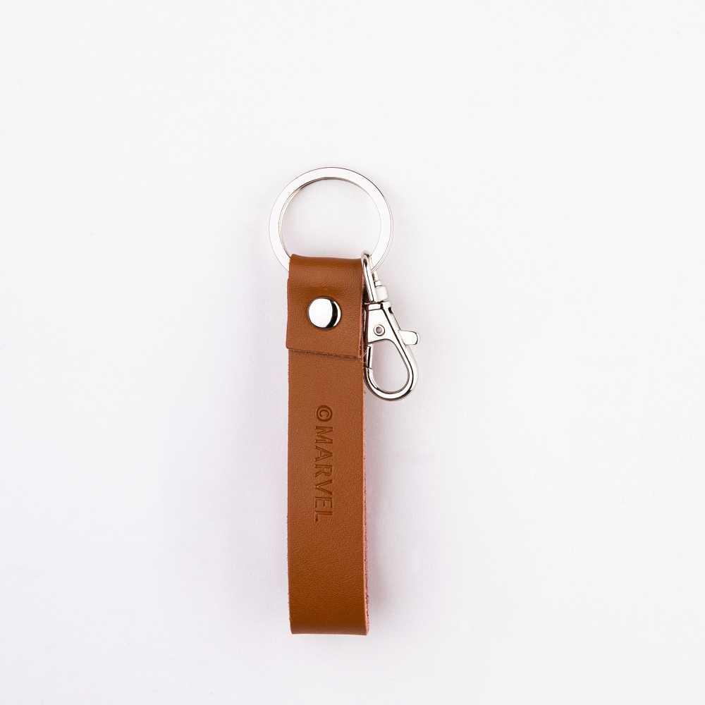 復仇者聯盟系列 皮革鑰匙圈 長型(深棕)