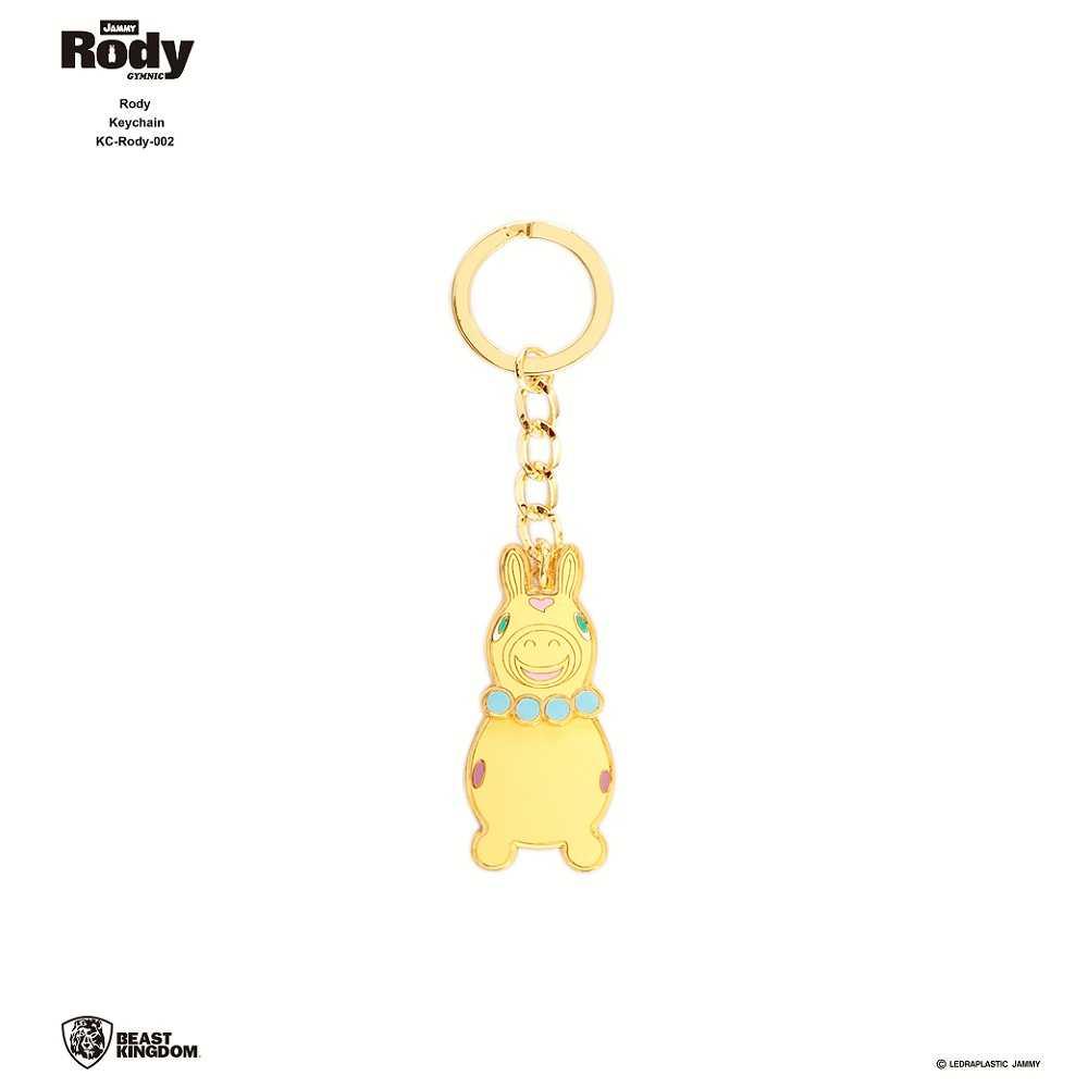 Rody-002 跳跳馬 鑰匙圈 02 粉黃款