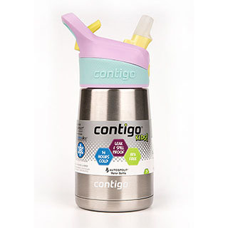 【美國Contigo】Striker 兒童304不鏽鋼保溫吸管水壺 296ML 藍紫色