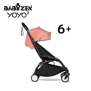 【BABYZEN】YOYO2 嬰兒手推車6+(白色車架)