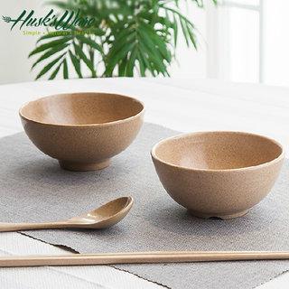 【美國Husk's ware】天然稻殼無毒環保餐碗筷組-6碗6筷
