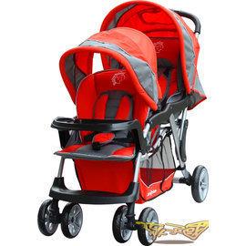 【Babybabe】歐風雙人手推車(紅色)