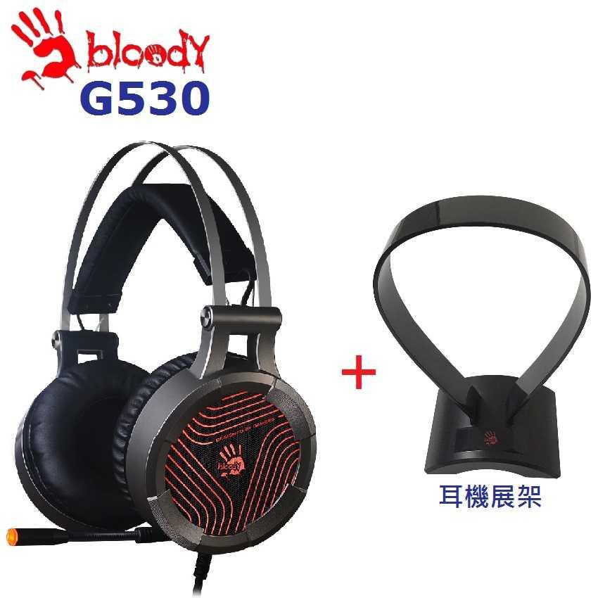 TGS [富廉網]【A4 雙飛燕】G530 + H-501F 遊戲耳機+耳機展架