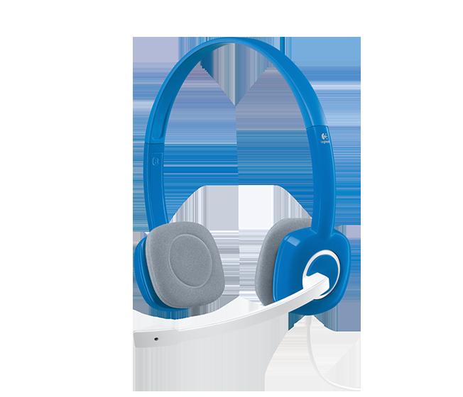 [富廉網] 羅技Logitech 立體聲耳機麥克風 H150 藍