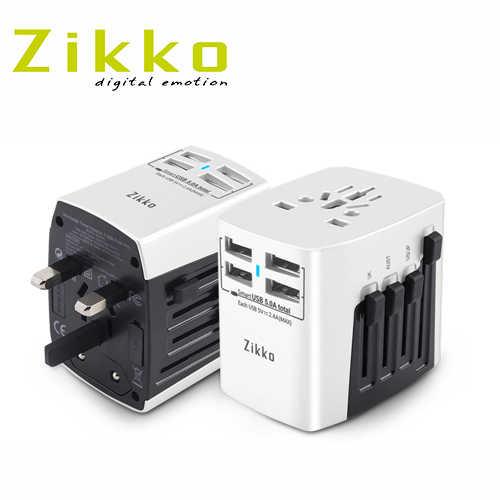 【有閑旅遊】【ZIKKO】4USB Port Pro 旅行插座